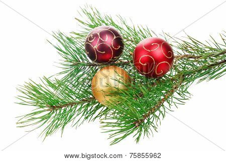 Christmas branch tree with decoration