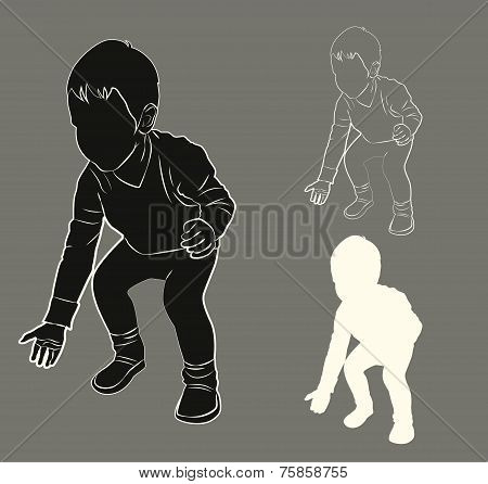 Silhouette Of A Child