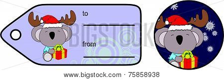 koala xmas baby cartoon gift card