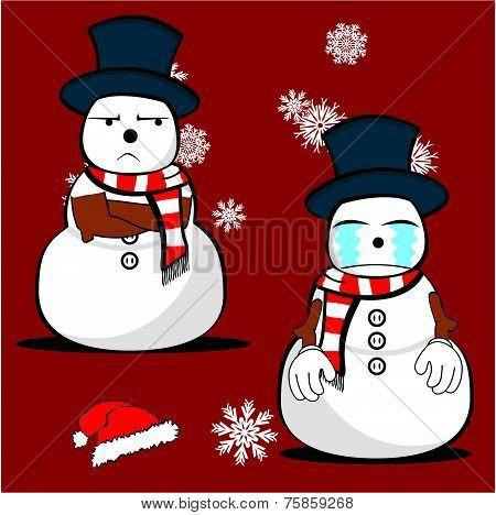 snow man cartoon xmas set0