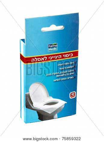 Pocket Sized Pack Of 10 Paper Toilet Seat Covers