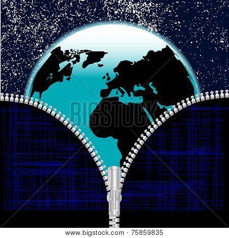 Earth Zipper