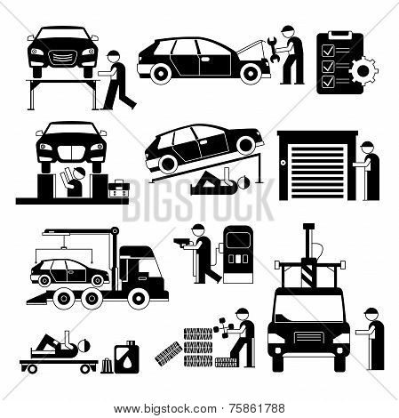 auto service people set