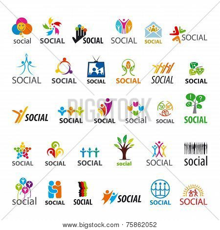 Large Set Of Vector Icons Social