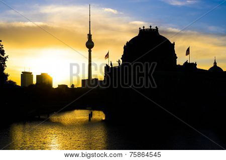 Berlin, Germany at sunrise.