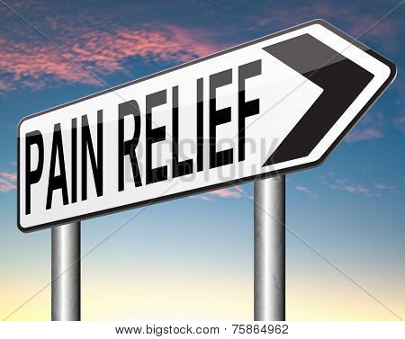 pain relief and management by pain killer or other treatment chronic pains sign