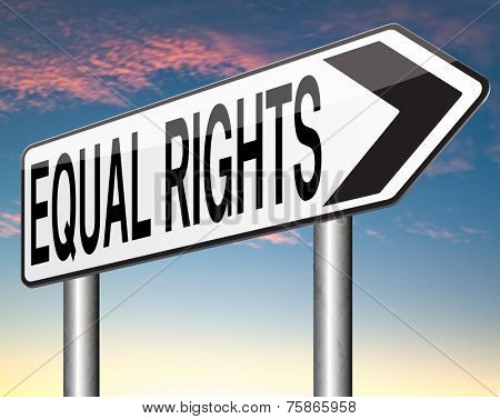 equal rights for all women man disabled black and white solidarity discrimination of people with disability or physical and mental handicap