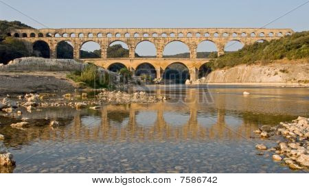 River Reflection of Pont du Gard