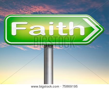 Faith and trust in God and Jesus