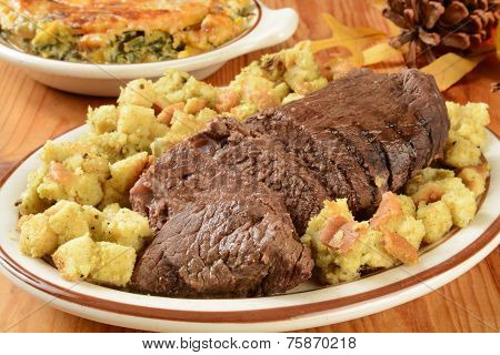 Roast Beef With Stuffing