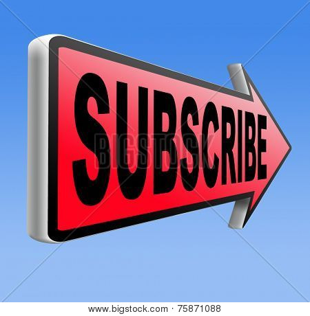 Subscribe here online free subscription and membership for newsletter or blog join today