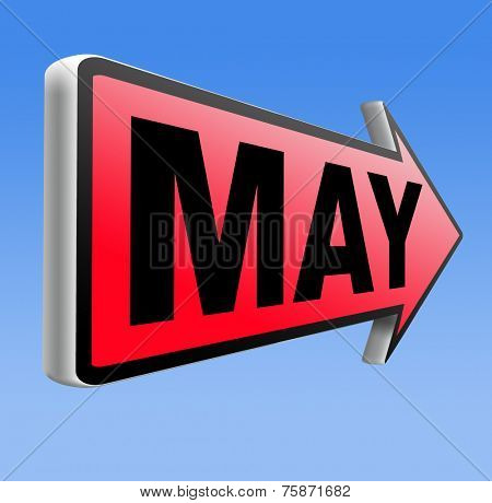 May to next month of the year spring event calendar
