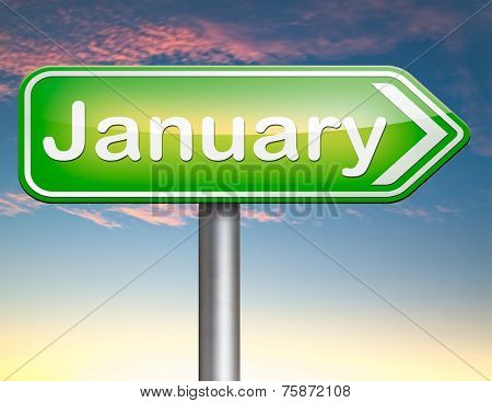 January the first month of the next year in winter season