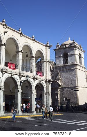 Plaza de Armas (Main Square) in Arequipa, Peru