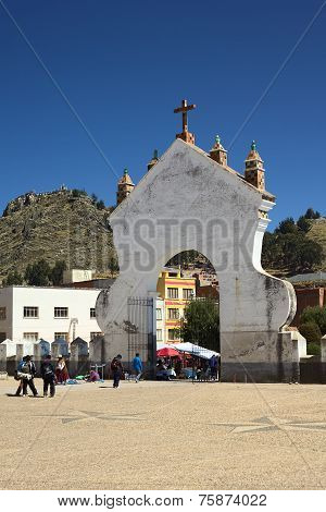 Gate of the Basilica of Copacabana, Bolivia