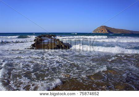 breakwater on beach