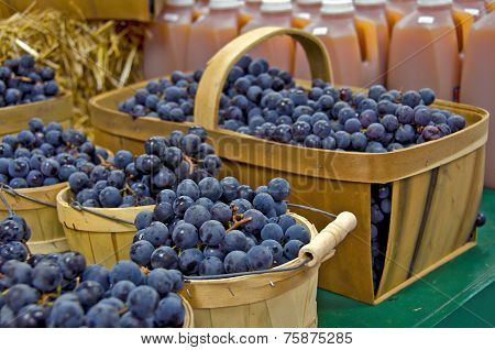 Blueberries and apple cider