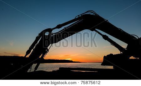 Digger Arm Sunset