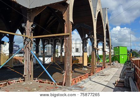 Repairs Started On Knox Presbytarian Church, Christchurch.