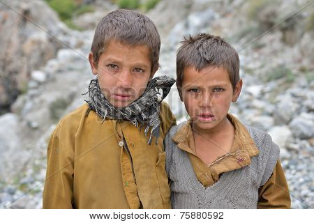Chilas, PAKISTAN - OCTOBER 20 : Unidentified Pakistani boys in Chilas, Pakistan on 20 th October, 20