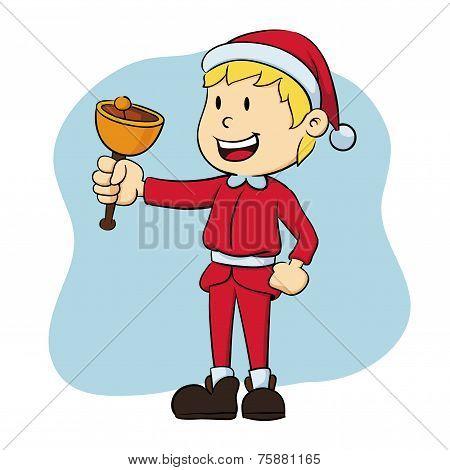 Boy Wearing Santa Claus Costume