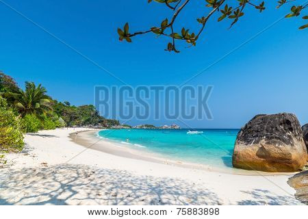 Beach of Similan Koh Miang Island in national park, Thailand