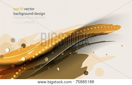 eps10 vector ink splat elements with wave banner concept background
