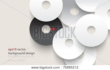 eps10 vector overlapping chrome disc concept background