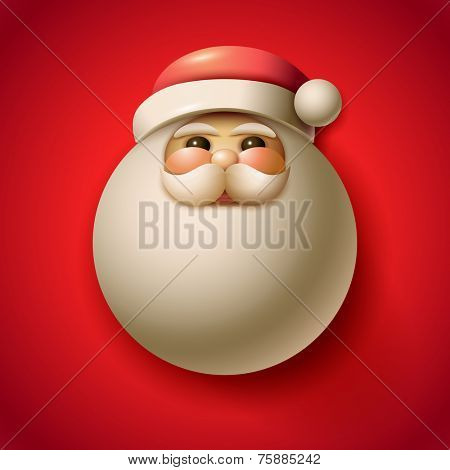 Vector illustration of Santa Claus portrait illustration. Christmas design. Elements are layered separately in vector file.