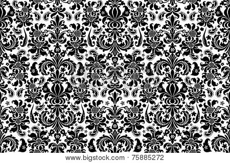 Seamless background Damask. Ornate vintage background