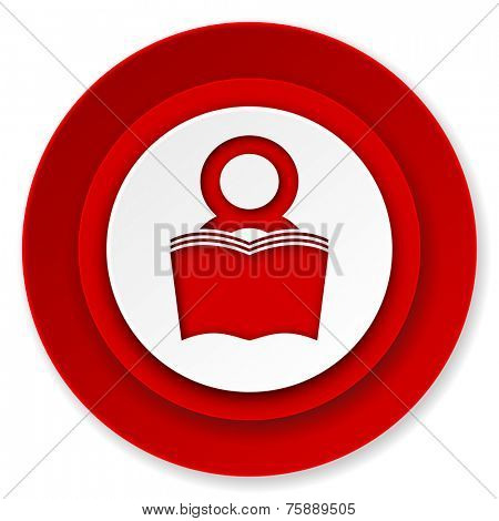 book icon, reading room sign, bookshop symbol