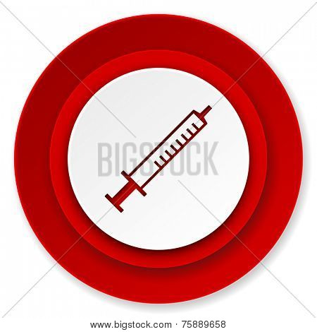 medicine icon, syringe sign
