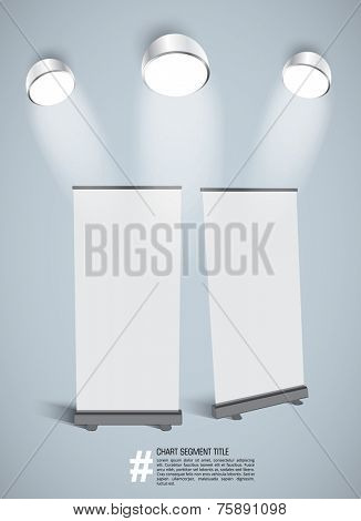 Vector blank roll up banner
