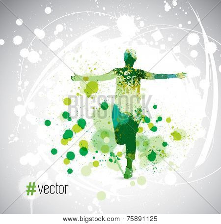 Runner. Vector illustration