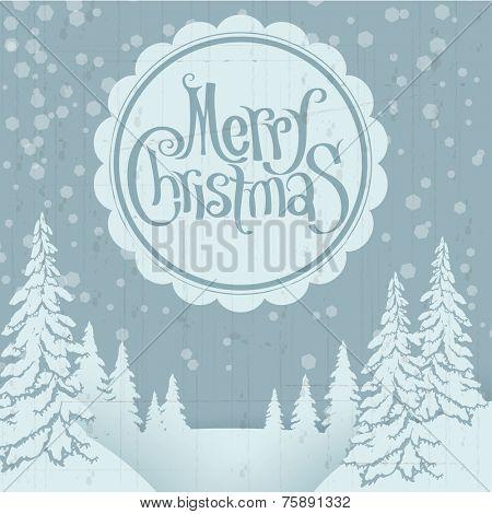 Christmas retro greeting card design