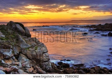 Beautiful Sunrise Over Monterey