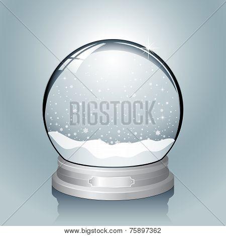 Silver Snow Globe