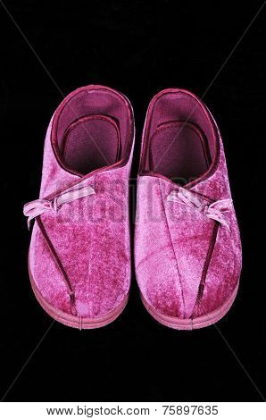Pink slippers.