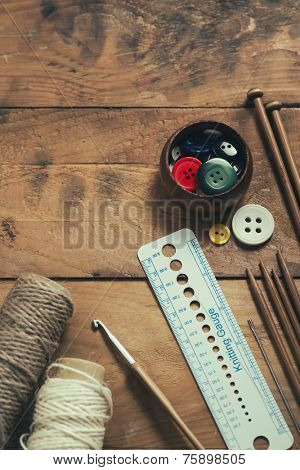 Knitting and sewing supplies