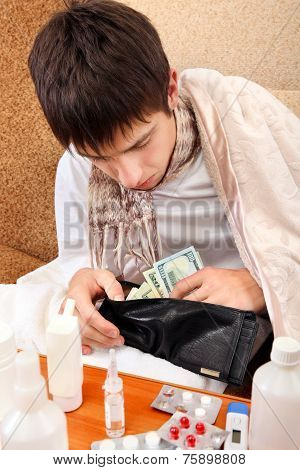Sick Teenager Checks The Wallet