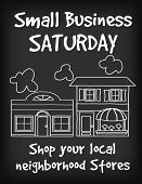 foto of local shop  - Small Business Saturday chalk board sign - JPG