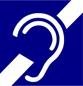 picture of deaf  - Vector Illustration of the International Symbol for Deafness - JPG