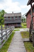 picture of century plant  - Eckley Miners village is a museum depicting a typical company mining town in the anthracite coal region of Pennsylvania during the 19th nineteenth century - JPG