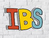 picture of defecate  - IBS Letter on Brick Wall in the Back - JPG