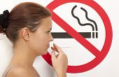 image of smoking  - Woman - JPG