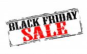 picture of friday  - Rubber stamps with text black Friday sale inside vector illustration - JPG