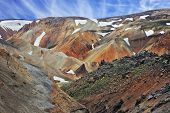 picture of hollow  - National Park Landmannalaugar in Iceland - JPG