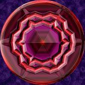 foto of orbs  - Jewelled metal orb generated texture or background - JPG