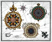 Antique compass roses