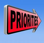 image of priorities  - priorities important very high urgency info highest importance crucial information top priority dont forget road sign arrow  - JPG
